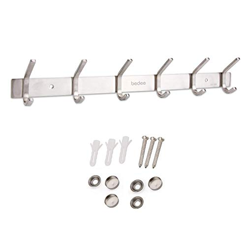 bedee Ganchos Percheros de Pared, Acero Inoxidable con 6/12...