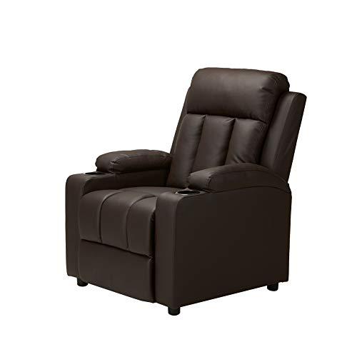Gharpbik Kinosessel Cinemasessel Recliner Einzelsofa Sessel Sofa Sessel mit PU-Leder Relaxsessel (Braun)