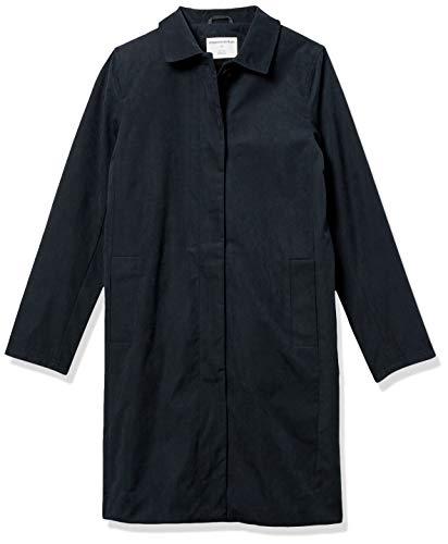 Amazon Essentials Water-Resistant Trench Coat Raincoats, Nero Ardesia, M