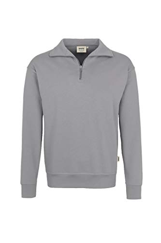 HAKRO Zip-Sweatshirt, mittelgrau, Größen: XS - XXXL Version: L - Größe L