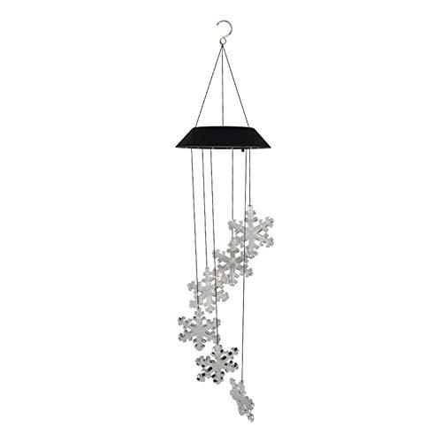 LED Solar Windspiel Licht Schneeflocke Spirale Spinner Farbwechsel Gartenlampe,Windspiel Licht Bunte Gartenleuchte mit Farbwechsel Garten Deko für außen