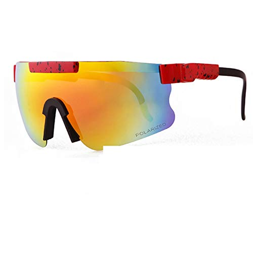 HUALUWANG Gafas de Sol, Monturas Tr90 de Espejo Polarizado Doble Ancho para Hombre y Mujer, Gafas Protectoras UV400 para Exteriores