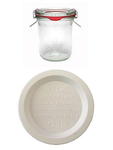 12 Weck Gläser 160 ml + 4 Frischhalte Deckel Einmachgläser Sturzgläser Weckgläser / inkl Einkochringe Klammern Glasdeckel
