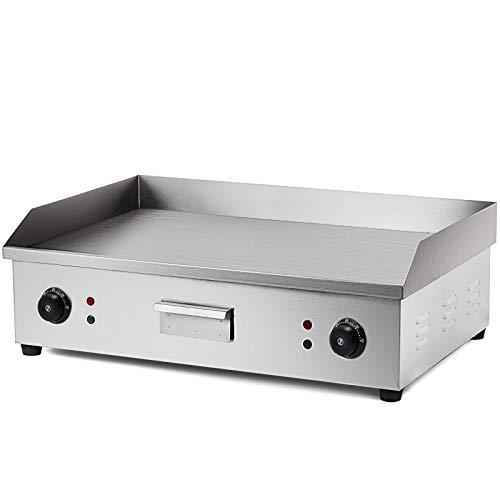 Olibelle 4400W Plancha de Table Electrique en Inox Barbecue Professionnel Electrique Grill Viande pour Cuisine Jardin...