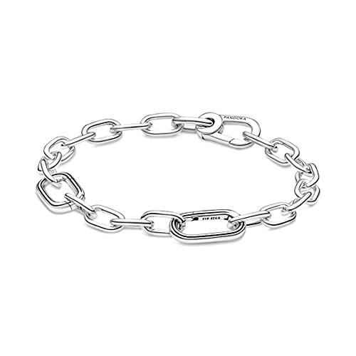 Pandora ME Link 599662C00-3 - Pulsera de plata de ley, 17,5 cm, compatible con pulseras Pandora ME