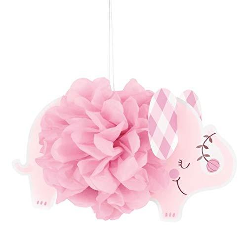 Unique 78383 Floral Elefante Pañuelo Decoraciones Colgantes, 9 pulgadas | Rosa | 3 Piezas