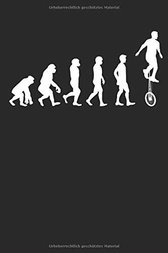 Evolution Radsportart Einrad: Notizbuch DIN A5 I Dotted Punkteraster I 120 Seiten I Sportart Radsport Unicycle Fahrzeug Einradfahrer Pedalfahrzeug