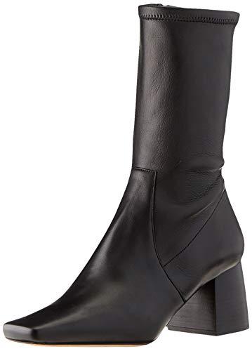 BOSS Damen Alek STR.Bootie65-NC Ankle Boots aus italienischem Leder mit Blockabsatz Größe 40