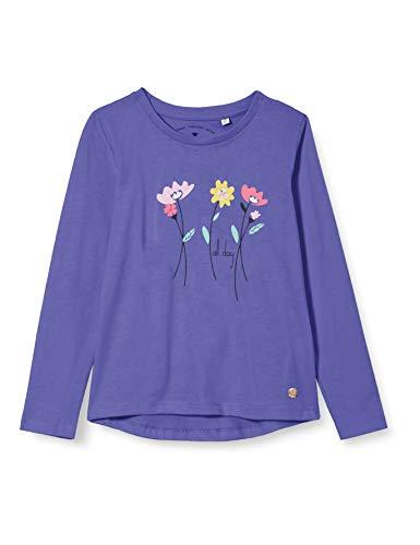 TOM TAILOR Baby-Mädchen Langarmshirt T-Shirt, iris Bloom|Blue, 104/110