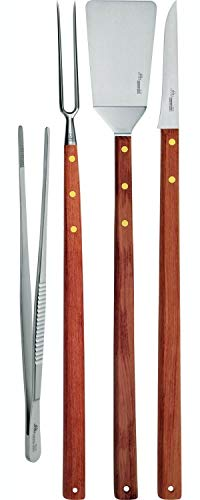 Due Cigni 4-teiliges Messer und Grillzubehör-Set mit Kochzange
