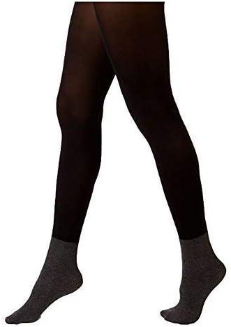 Hanes Women's X-Temp Blackout Boot Liner Tights Black Med
