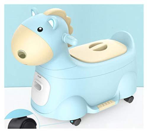 Asiento De Inodoro Orina Inodoro para niños Boy Boy Baby Baby Baby Niño Niño Orinal Potty Plus Large Wit Potty para Pincel de Orinal Libre (Color : Blue with Wheels)