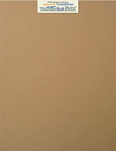 "25 Brown Kraft Fiber 28/70 Pound Text (Not Card/Cover) Paper Sheets - 8.5"" X 11"" (8.5X11 Inches) Standard Letter