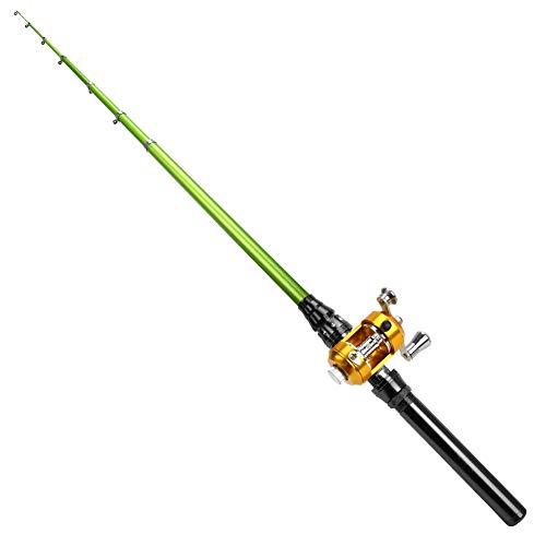 MultiOutools Fishing Rod and Reel Combos Mini Portable Pocket Aluminum...