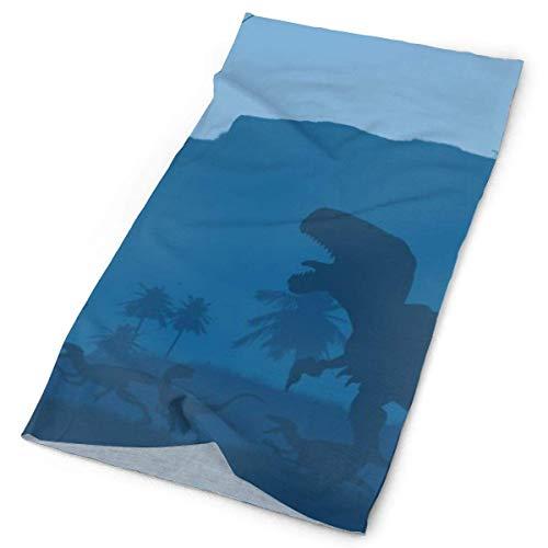 Quintion Robeson Bandana al Aire Libre para Rave Face Mascarilla bucal Protección contra el Polvo Patrón de Dinosaurio Máscara de Tubo Headwear Bandana, Mujeres Hombres