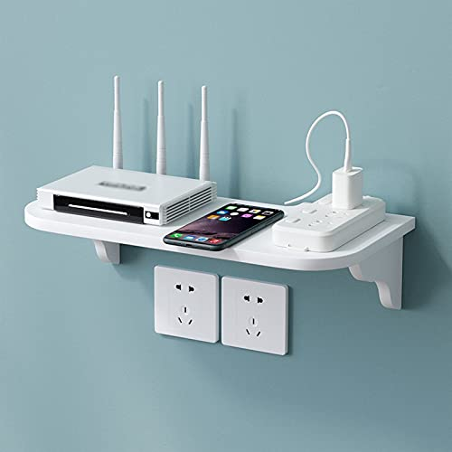 JF-TVQJ Mini Estante Flotante para Componentes De Soporte para TV, Estante para Colgar En La Pared, Soporte para Decodificador, Estante para Enrutador WiFi, Fácil De Limpiar/para Oficina En Casa