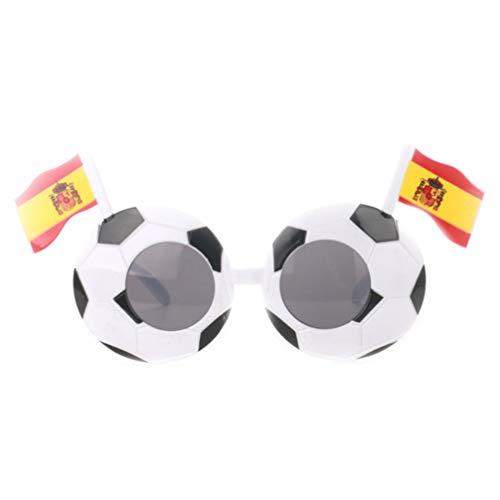 NUOBESTY Gafas De Fiesta Ftbol con Bandera para Copa Mundial Copa de Europa De La UEFA Hincha Gafas De Disfraces Divertidas Favores De Fiesta (Espaa)