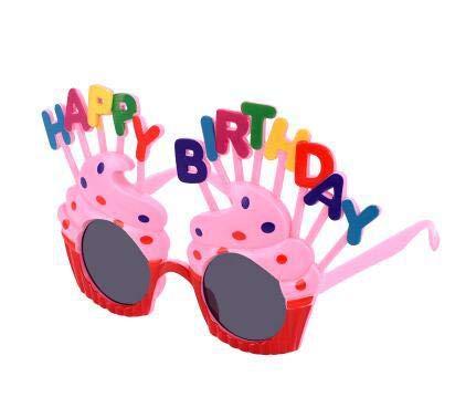 Longsing Alles Gute Zum Geburtstag Sonnenbrille Neuheit Lustige Dekoration Brillen Für Alles Gute Zum Geburtstag Party Photo Booth Requisiten(rot)