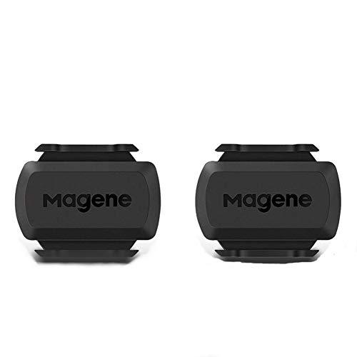 Magene S3+ Capteur de Vitesse et de Cadence de vélo Package de 2, capteur de Vitesse Ant + et Buletooth 4.0 Wireless Bicycle RPM