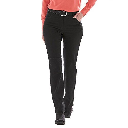 KjBrand Kj Brand 24618-9068 001 Betty Damen Hose Five-Pocket-Form innenangeraut Stretch, Groesse 44K, schwarz