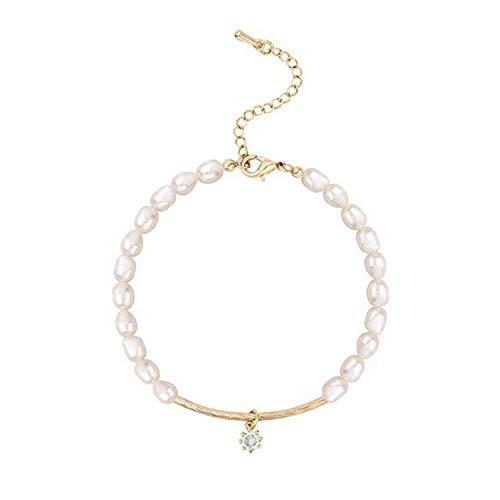 QKL Stilvolle NatüRliche Perle Lady Armband Exotische Perlen String Geschenk.