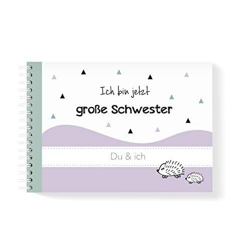 mintkind Geschwisterbuch Große Schwester I Momente und Erinnerungen festhalten I Fotoalbum Geschenkidee DIY