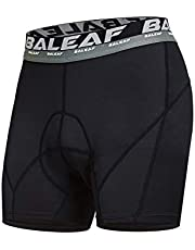 BALEAF Heren 3D Gewatteerde Cool Max Fiets Baleaf Heren 3D Gewatteerde Cool Max Fietsondergoed Shorts - Zwart, Medium