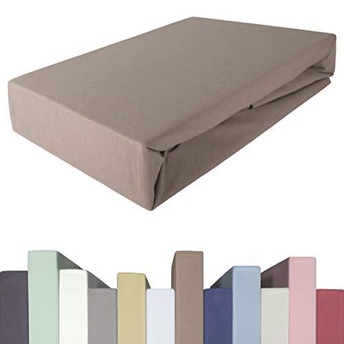 Edda Lux Spannbettlaken für BOXSPRINGBETT & bis zu 40 cm hohe Matratzen | Premium-Qualität | Baumwolle m. 5% Elasthan | schwere 190 g/m² | 140 x 200 | 160 x 200 | 160 x 220 cm | Jersey-Spannbetttuch
