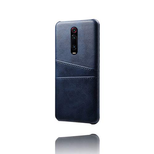 Hamee Redmi K20 Pro Back Cover Case Elegant Leather Backcover with Credit Card Pouch Slot.Redmi K20 Pro Cases and Covers Leather - Blue