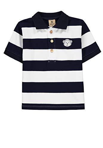 Bellybutton mother nature & me Baby-Jungen 1/4 Arm Poloshirt, Blau (Navy Blazer|Blue 3105), (Herstellergröße: 92)