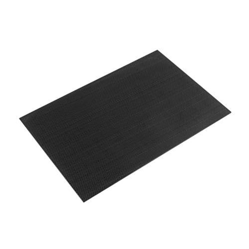 3K Plain Weave 100{b2c53a5425e9d7f2e292827c68dc2f9b9ff37752f8289f7355c8ee3bc5aaf8a8} vera piastra in fibra di carbonio/pannello/lastra 200 × 300 × 2mm rigida tessuto superficie piatto bordo accessorio-