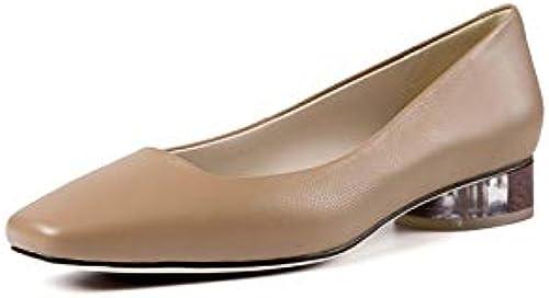VIVIOO Chaussures Chaussures pour Femmes en Cuir véritable Chaussures d'été à Bout carré Chaussures à Talons en Cristal Chaussures habillées Confortables  prix de gros