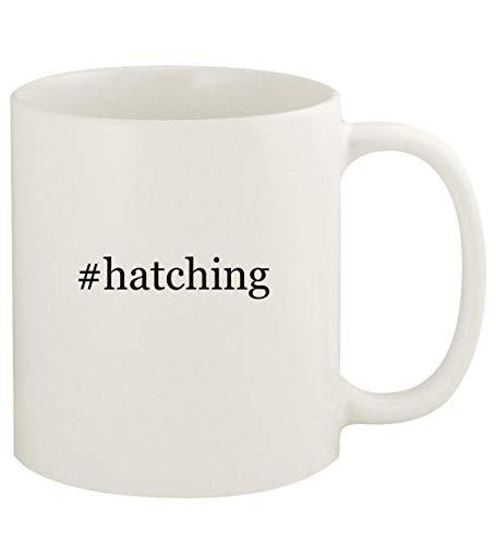 #hatching - 11oz Hashtag Ceramic White Coffee Mug Cup, White