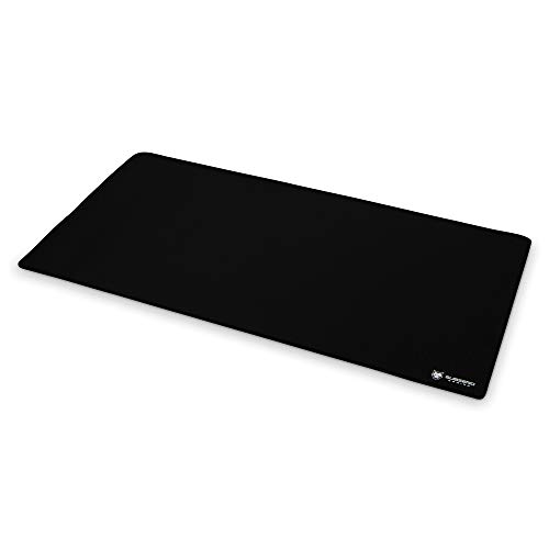SubZERO Gaming TYKA Extended Mammoth Soft Gaming Mouse Pad, Long XXL, Stitched Edges, 36'x18' (Black)