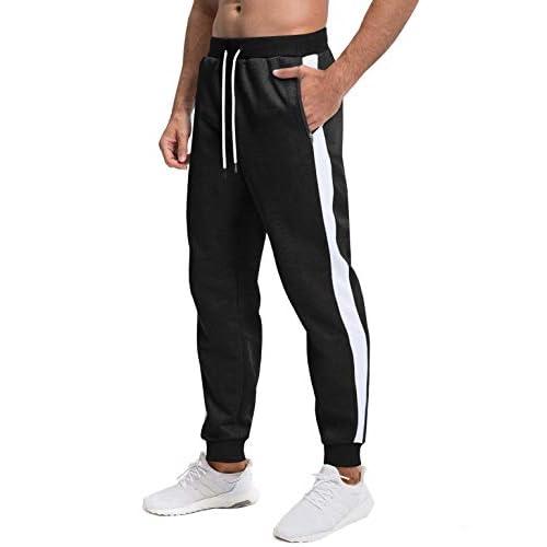 MAGCOMSEN Mens Elastic Jogging Bottoms Outdoor Casual Tracksuit Bottom for Men Light Zipper Pockets Sweatpants