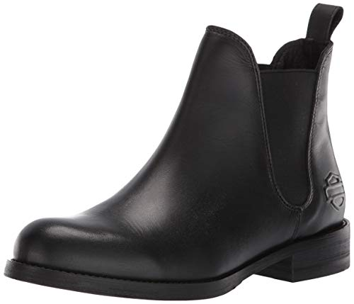 Harley-Davidson Women's Delano 4.5-Inch Casual Ankle Boots D84408 (Black, 9.5)