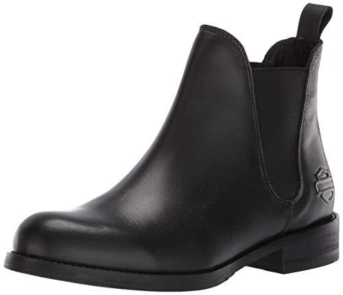 HARLEY-DAVIDSON FOOTWEAR Women's Delano Sneaker, Black, 09.0 M US
