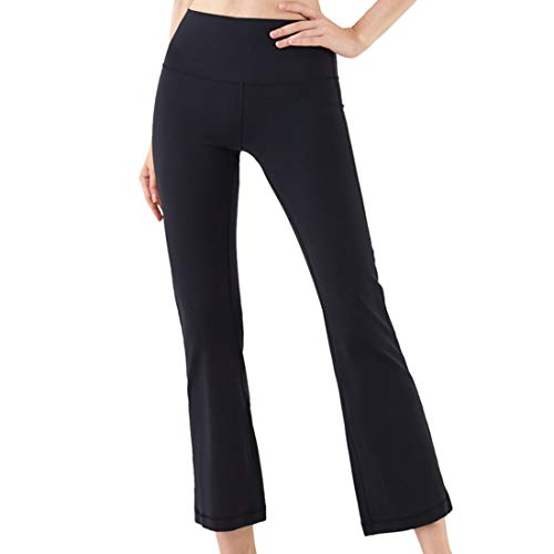 Entrenamiento para mujer Correr Leggings Pantalones de yoga de cintura alta de cintura alta de control de barriga opacos elásticos suaves y suaves, Tallas grandes Gimnasio Yoga Pantalones elásticos