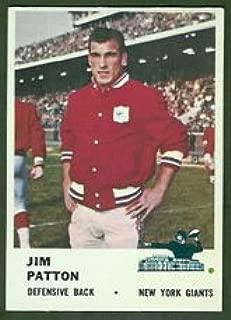 1961 Fleer Regular (Football) card#72 Jim Patton of the New York Giants Grade Good