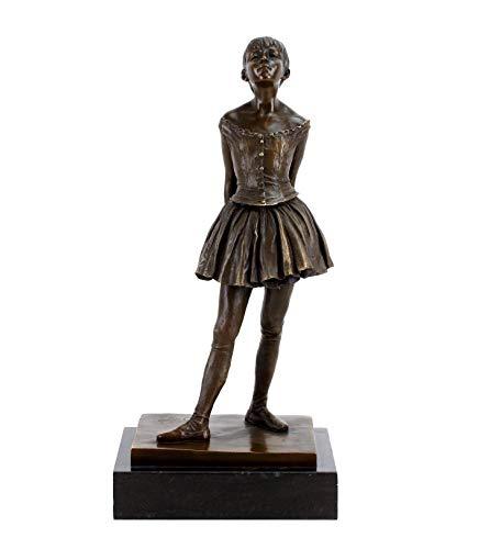 Kunst & Ambiente - Kleine vierzehnjährige Tänzerin - Bronzefigur - Klassiker von Edgar Degas - 100{068d14ca66540f3330207279c6a3aa58870bff76698bd5b093a90b2cd31b2b47} Bronze - Skulpturen Kaufen