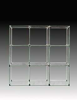 glass cubes display