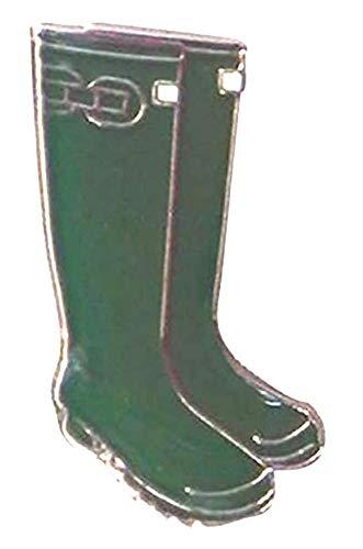 Mainly Metal TM Emaille-Anstecknadel grün Gartenstiefel (20 mm) Gummistiefel