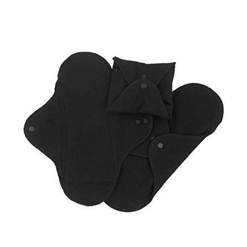 ImseVimse, assorbenti lavabili per signora, di colore nero, modelli tanga, normale, notte (etichetta in lingua italiana non garantita)