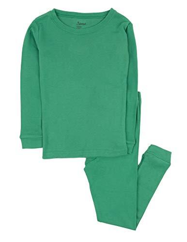 Leveret Kids Pajamas Boys & Girls Solid Green 2 Piece Pajama Set 100% Cotton Size 10 Years