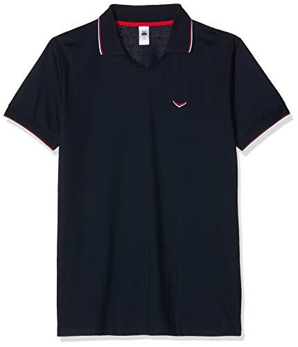 Trigema Herren 627613119 Poloshirt, Blau (Navy 046), Large (Herstellergröße: L)