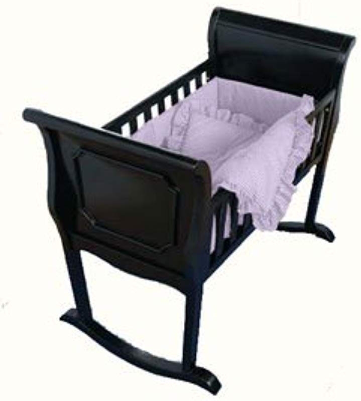 Babydoll Lavender Gingham Cradle Bedding 15 X 33