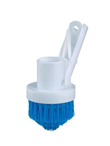 Medipool Brosse de piscine, brosse ronde, couvercles à lamelles et pour nettoyer les zones difficiles d'accès de la piscine.