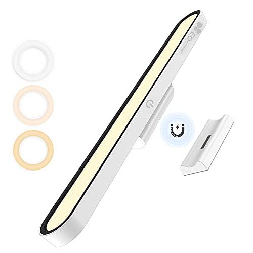 Luces debajo del gabinete con pilas, luz cama para niños cabecero de litera, Stick on barra de luz para armario, despensa, lámpara sin cable recargable, ángulo ajustable/temperatura de color/brillo