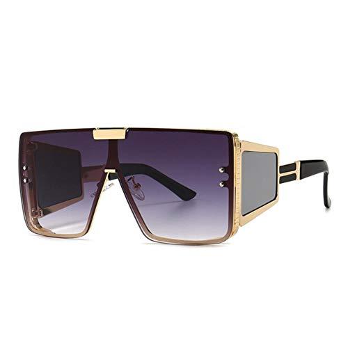 Gafas de sol de las mujeres Plaza De Gran Tamaño Una Lente Gafas De Sol Retro Hombres Mujeres De Moda Sombras Uv400 Vintage Gafas