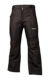 Arctix Kids Snow Youth Pants with Reinforced Knees and Seat Black Medium